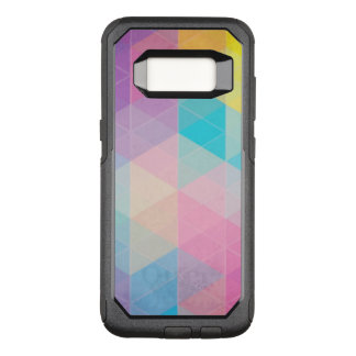 Colorful abstract triangles background OtterBox commuter samsung galaxy s8 case