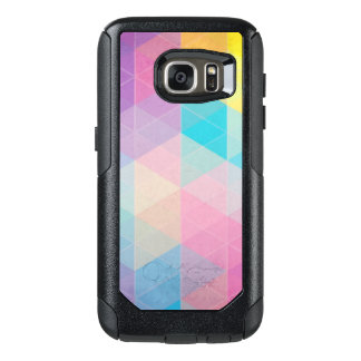Colorful abstract triangles background OtterBox samsung galaxy s7 case