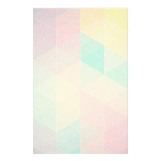 Colorful abstract triangles background personalised stationery