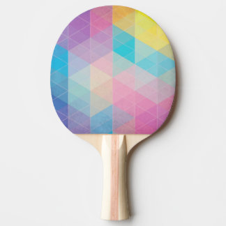 Colorful abstract triangles background ping pong paddle
