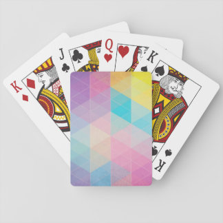 Colorful abstract triangles background playing cards