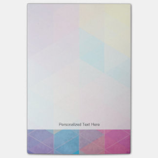 Colorful abstract triangles background post-it notes
