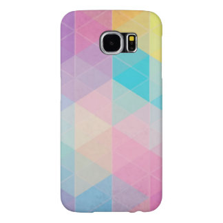 Colorful abstract triangles background samsung galaxy s6 cases