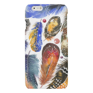 Colorful Abstract Tribal Feathers Design iPhone 6 Plus Case