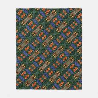 Colorful Abstract Tropical Pattern Fleece Blanket