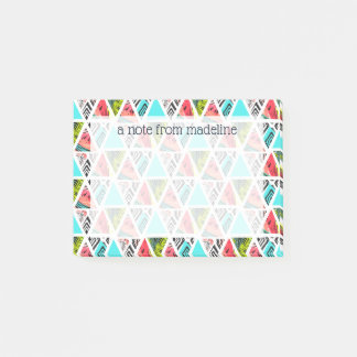 Colorful Abstract Tropical Pattern Post-it Notes
