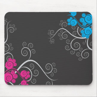 Colorful Abstract Vines Mouse Mat