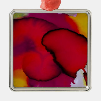 Colorful Abstract Watercolor Painting Ornament