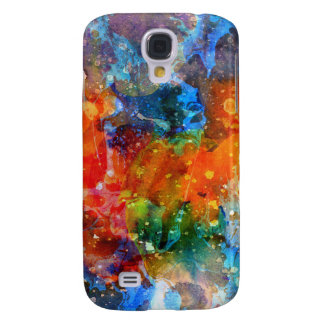Colorful Abstract Watercolors Artistic Background Galaxy S4 Case