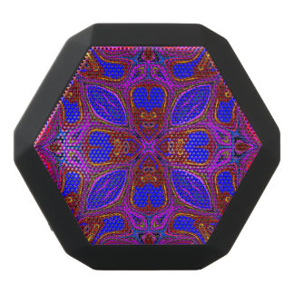 Colorful Abstract Wave Black Bluetooth Speaker