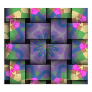 Colorful abstract weave pattern photograph