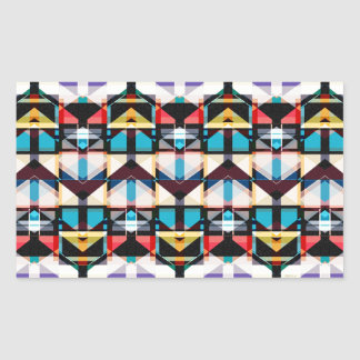 Colorful Abstract Weave Pattern Rectangular Stickers