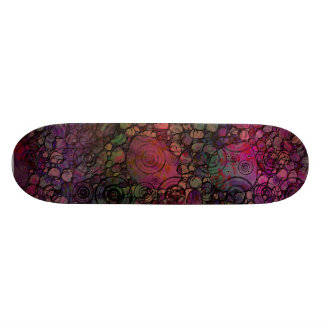Colorful Abstract with Black & Grungy Circles 21.6 Cm Old School Skateboard Deck