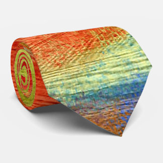 Colorful Abstract Wood Grain #3 Tie