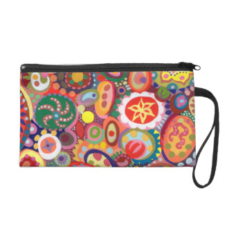 Colorful Abstract Wristlet Purse