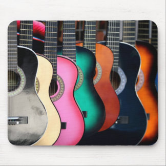 Colorful Acoustic Guitars Mousepad