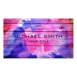 Colorful Acrylic Painting on Wood #3 Pack Of Standard Business Cards