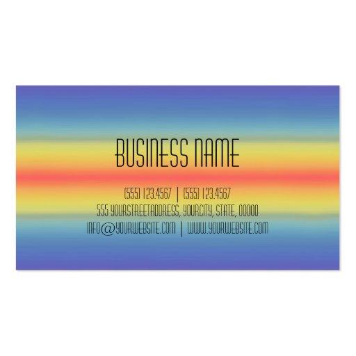 Colorful Acrylic Rainbow Abstract #2 Business Card Templates