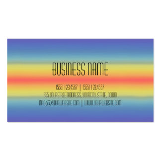 Colorful Acrylic Rainbow Abstract #2 Pack Of Standard Business Cards