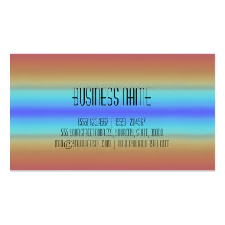 Colorful Acrylic Rainbow Abstract 3 Business Card Templates