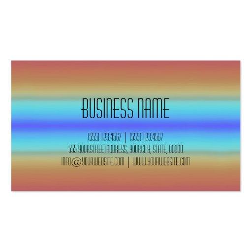 Colorful Acrylic Rainbow Abstract #3 Business Card Templates