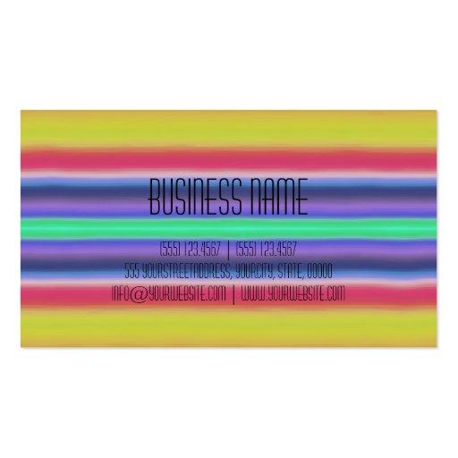Colorful Acrylic Rainbow Abstract Business Card Templates