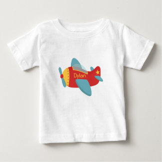 Colorful & Adorable Cartoon Aeroplane Baby T-Shirt
