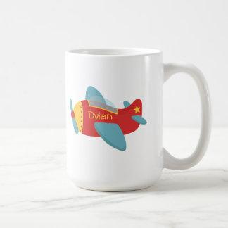 Colorful & Adorable Cartoon Aeroplane Coffee Mug