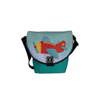 Colorful & Adorable Cartoon Aeroplane Courier Bag