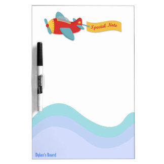 Colorful & Adorable Cartoon Aeroplane Dry-Erase Boards
