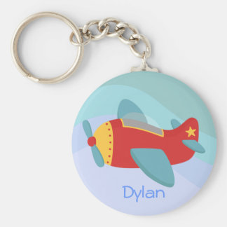 Colorful & Adorable Cartoon Aeroplane Key Ring