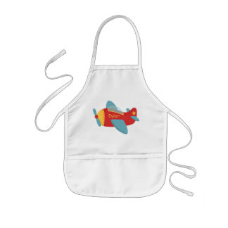 Colorful & Adorable Cartoon Aeroplane Kids Apron