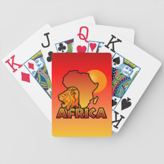 Colorful AFRICA playing cards