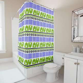 Colorful African Geometric Pattern Shower Curtain