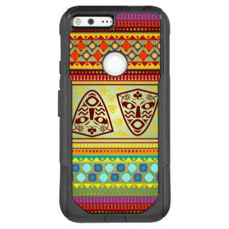 Colorful African Masks Stripe Kente Pattern OtterBox Commuter Google Pixel XL Case