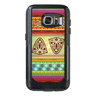 Colorful African Masks Stripe Kente Pattern OtterBox Samsung Galaxy S7 Case