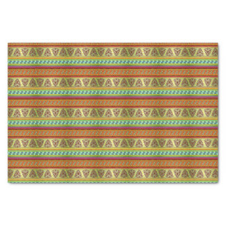 Colorful African Masks Stripe Kente Pattern Tissue Paper