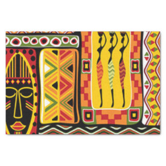 Colorful African Pattern Print Collage Tissue Paper