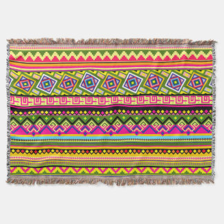 Colorful African Tribal pattern home blanket