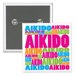 Colorful Aikido Pinback Buttons