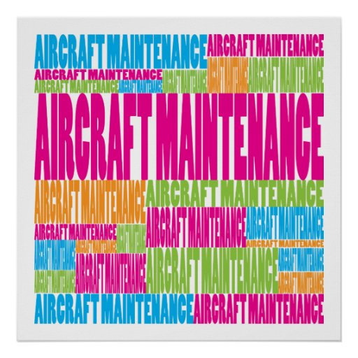 Colorful Aircraft Maintenance Posters