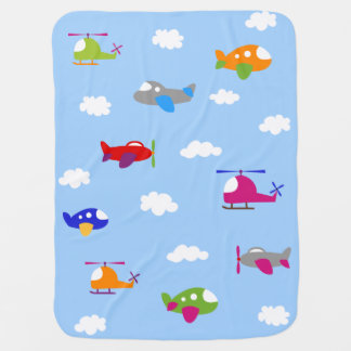 Colorful Airplanes in the Sky Baby Blanket