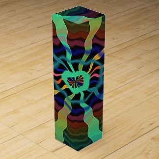 Colorful Airwaves Wine Bottle Boxes