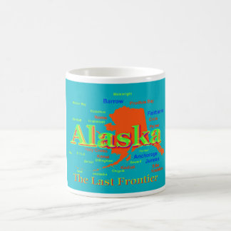 Colorful Alaska State Pride Map Silhouette Mug