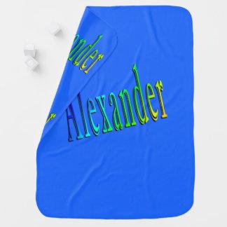 Colorful Alexander Name Logo, Baby Blanket