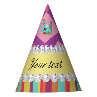 Colorful Alice in Wonderland and Stripes Party Hat