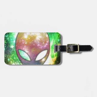 Colorful Alien Luggage Tag