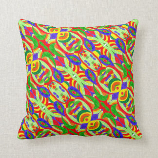Colorful Aliens - Throw Pillow