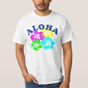 10dc1f3528ee Colorful Aloha Vintage T-Shirt Hawaiian Flowers