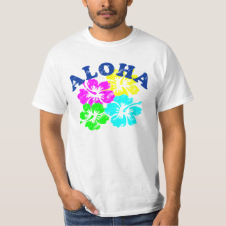 Colorful Aloha Vintage T-Shirt Hawaiian Flowers